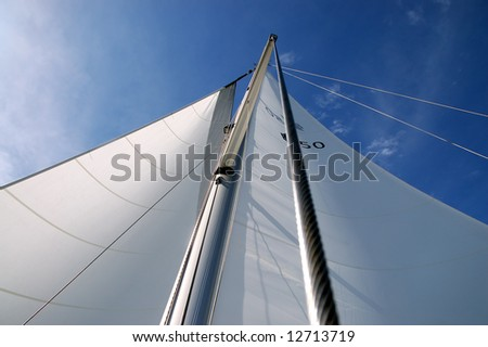 Sails on a sunny day - stock photo