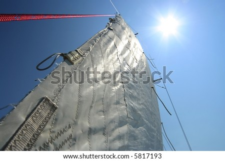 Sails viewed from bottom - stock photo