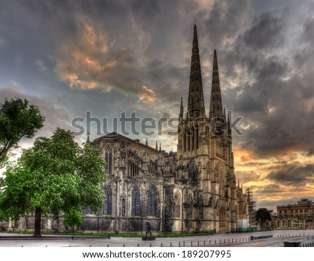 Saint-Andre Cathedral of Bordeaux - France, Aquitaine - stock photo
