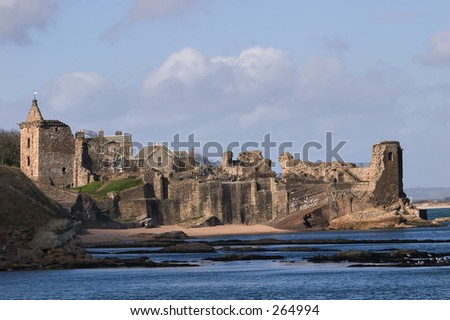 Saint Andrews Castle, Fife, Scotland - stock photo