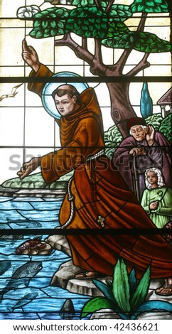 Saint Anthony of Padua - stock photo