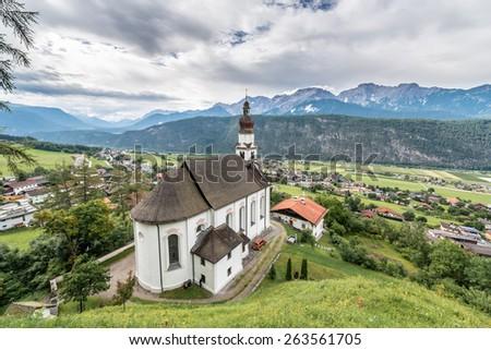 Saint Anthony of Padua church in Rietz, Sonnenplateau, western Innsbruck, Austria - stock photo