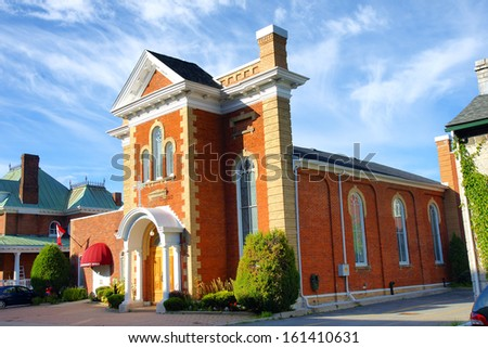 Saint Athanassius Greek Orthodox church Kingston Ontario Canada historic heritage building 19th century - stock photo