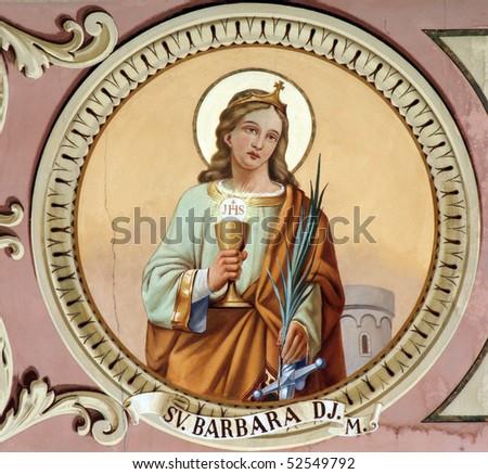 Saint Barbara - stock photo