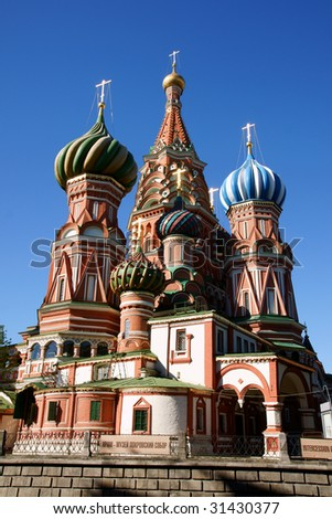 Saint Basil's Cathedral in Red square in Moscow