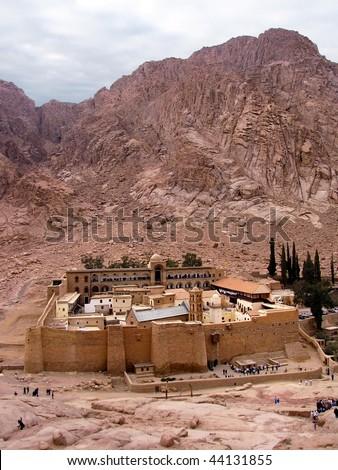 Saint Catherine's Monastery, Sinai Peninsula, Egypt - stock photo