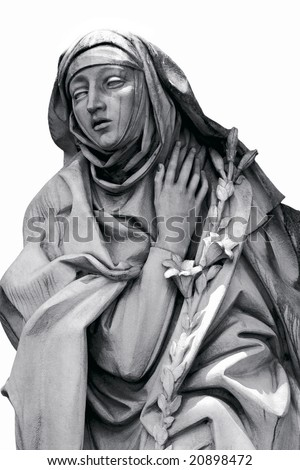 Saint Catherine, statue at Castle Saint Angel, Rome - stock photo