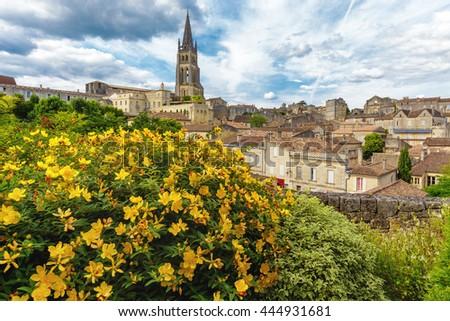 Saint Emilion French village, Unesco heritage, famous for its wine. - stock photo