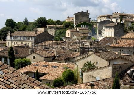 Saint-Emilion, Gironde, Aquitaine, France - stock photo