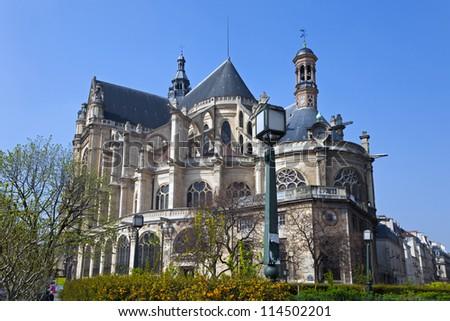 Saint-Eustache church, Paris, France - stock photo