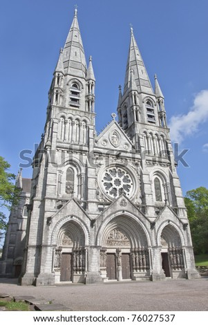 Saint Fin Barre's Cathedral in Cork city, ireland. - stock photo