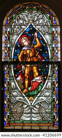 Saint George, Stained glass