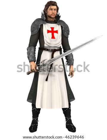Saint George, the Patron Saint of England (St. George's Day is April 23rd) - stock photo