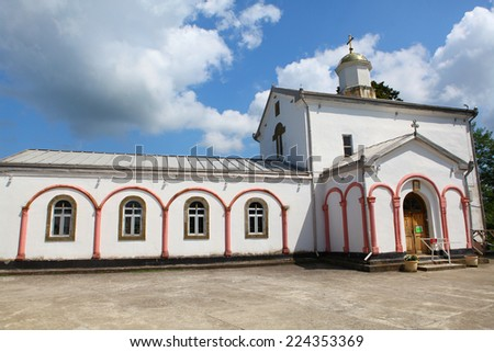 Saint Georges the Victorious's temple in Ilor village, near Ochamchira, Abkhazia - stock photo