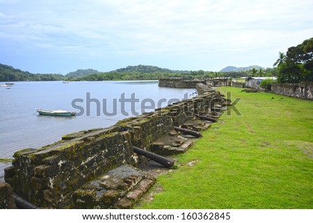Saint Geronimo's Castle at Portobelo, Colon- Panama - stock photo