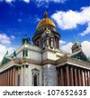 Saint Isaac's Cathedral in St Petersburg - stock photo