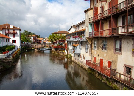 Saint jean pied de port france stock photo 114878557 - Saint jean pied de port santiago de compostela ...