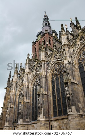 Saint Johns cathedral of 's-Hertogenbosch in the Netherlands, Nort Brabant province. - stock photo