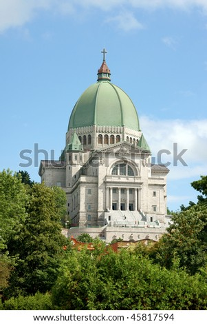 Saint Joseph Oratory in Montreal, Quebec, Canada. - stock photo