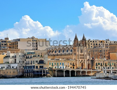 Saint Julians bay, Malta - stock photo