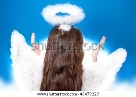 Saint little girl - stock photo