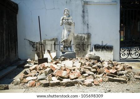 Saint Louis Cemetery No. 1, New Orleans - stock photo