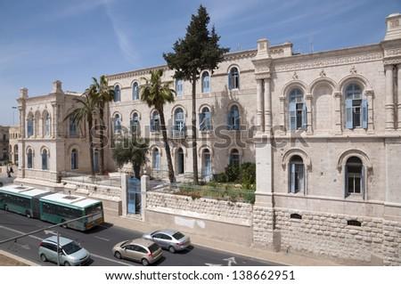 Saint Louis hospital Jerusalem, Russian hospice - stock photo