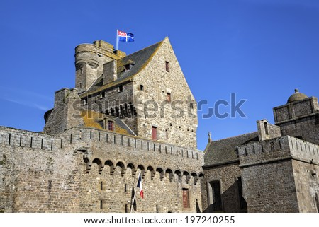 Saint Malo. France - stock photo