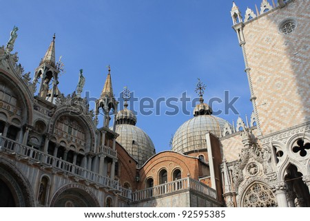 Saint Mark basilica and Doge's palace, Venice, Italy