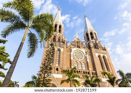 Saint mary cathedral. Yangon. Myanmar. - stock photo