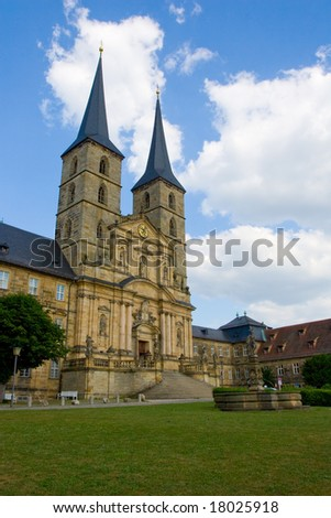 Saint Michael Monastery in Bamberg - stock photo