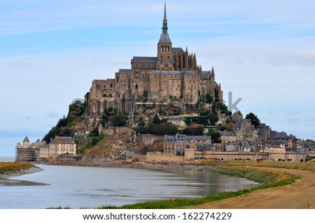 Saint Michael's Mount in France - stock photo