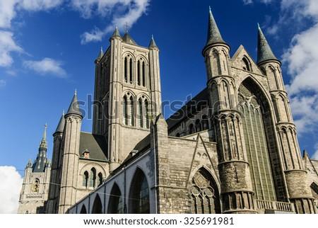 Saint Nicholas' Church, Ghent, Belgium - stock photo