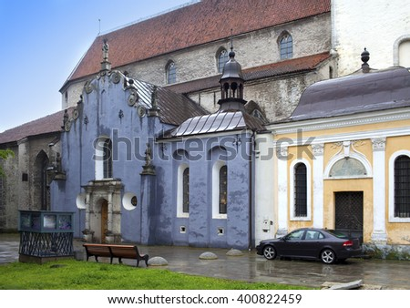 Saint Olav's church(Oleviste), Saint Maria chapel,  (1513)  in Tallinn, Estonia. - stock photo