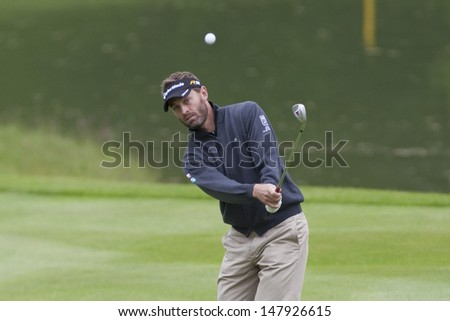 SAINT-OMER, FRANCE. 18-06-2010, Raphael Jacquelin (FRA) on the second day of the European Tour, 14th Open de Saint-Omer, part of the Race to Dubai tournament and played at the AA Saint-Omer Golf Club - stock photo