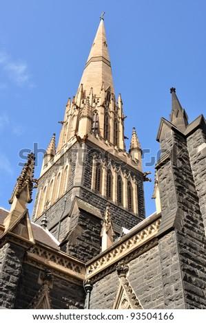 Saint Patrick Cathedral in Melbourne, Australia - stock photo