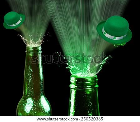Saint Patrick Day green beer. - stock photo