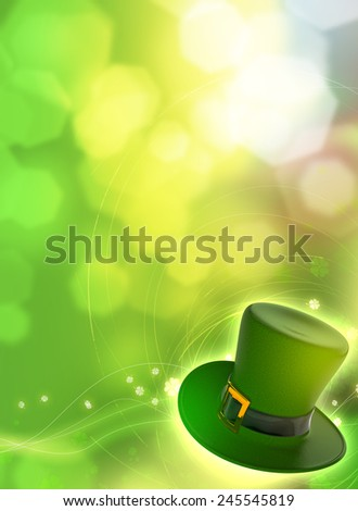 Saint Patrick's Day card with green hat - stock photo
