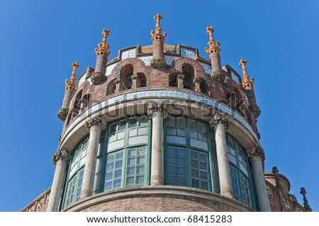 Saint Pau hospital located at Barcelona, Spain - stock photo