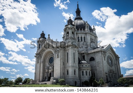 Saint Paul Cathedral, Minnesota - stock photo