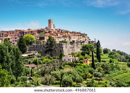 Saint-Paul-de-Vence, a old historic village in France.