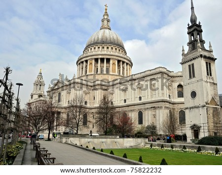 Saint Paul's Cathedral, London, England - stock photo