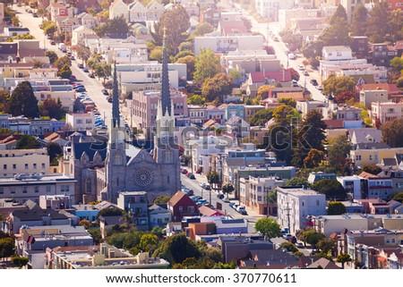 Saint Paul's Catholic Church in San Francisco - stock photo