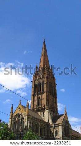 Saint Paul's church (Melbourne, Victoria, Australia) - stock photo