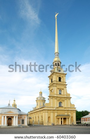 saint peter and paul cathedral (st petersburg russia) - stock photo