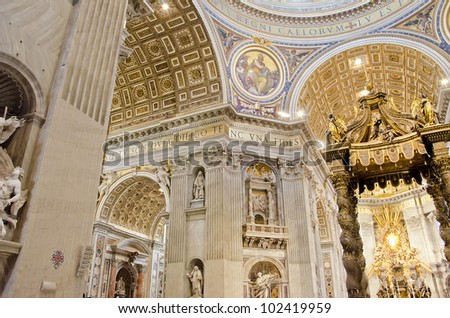Saint Peter Cathedral in Vatican - stock photo
