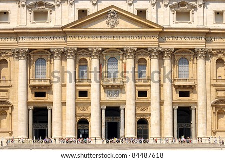 Saint Peter's Basilica in Vatican. Italy - stock photo