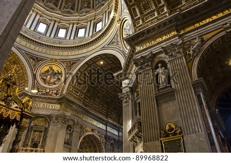 Saint Peter's Cathedral in Vatican - stock photo