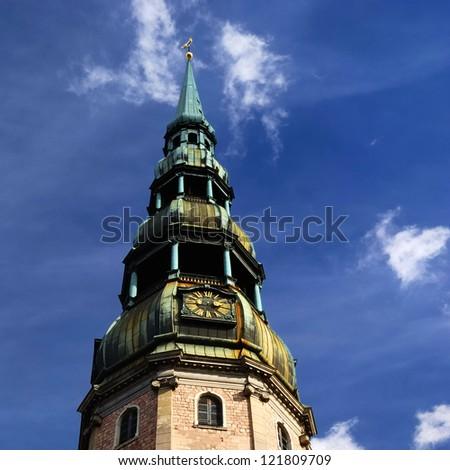 Saint Peter's church in Riga, Latvia - stock photo