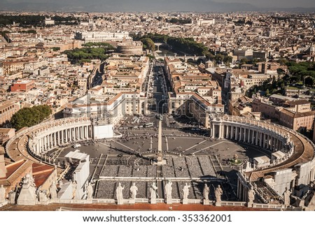 Saint Peter s Square in Vatican in Rome. Italy